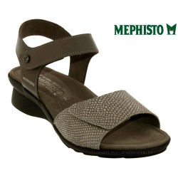 mephisto-chaussures.fr livre à Saint-Martin-Boulogne Mephisto Pattie Taupe cuir sandale