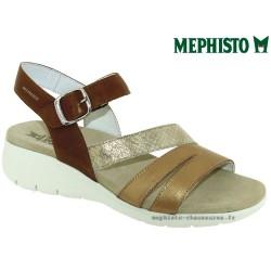 mephisto-chaussures.fr livre à Paris Lyon Marseille Mephisto Klarissa Marron/doré cuir nu-pied