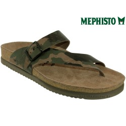 mephisto-chaussures.fr livre à Andernos-les-Bains Mephisto NIELS Kaki cuir tong