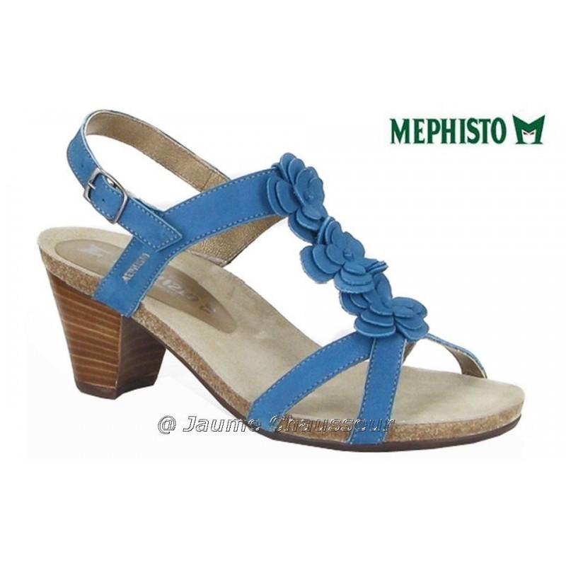 MEPHISTO Femme Sandale CLESIA Bleu nubuck 5323