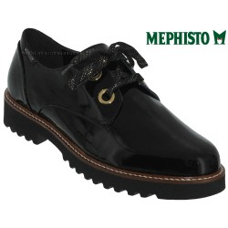 Mephisto Chaussures Mephisto Sancha Noir verni lacets_derbies