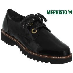 mephisto-chaussures.fr livre à Paris Lyon Marseille Mephisto Sancha Noir verni lacets_derbies
