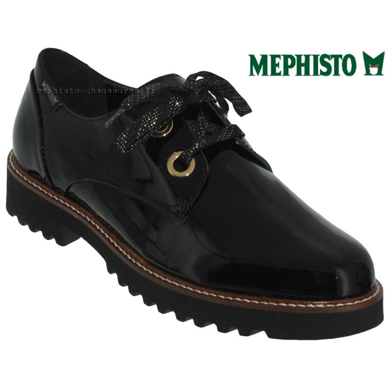 Mephisto Sancha Noir verni lacets_derbies