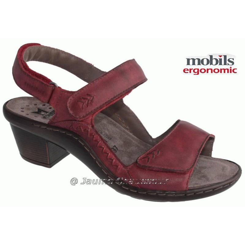 MOBILS de Mephisto Femme Sandale DIONIZA Rouge cuir 5372