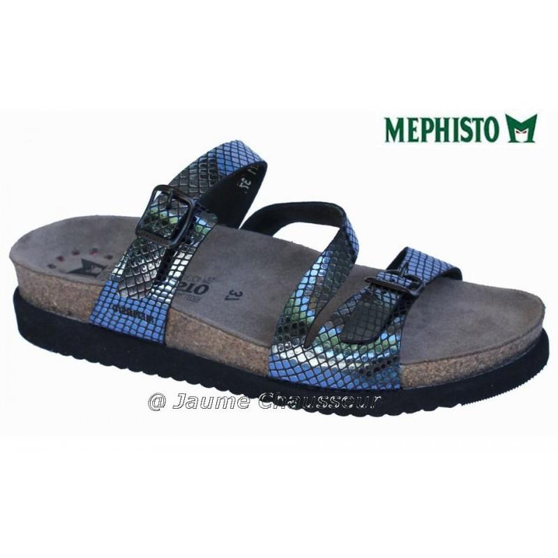 MEPHISTO Femme Mule HERMINA Bleu verni 5388