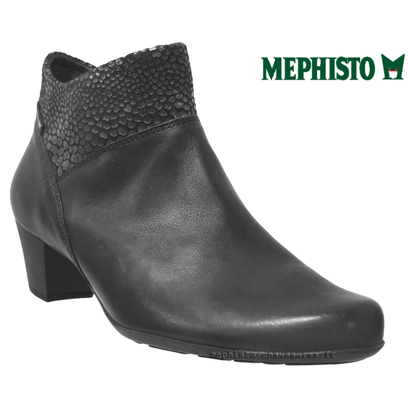 Mephisto Michaela Noir/python cuir bottine