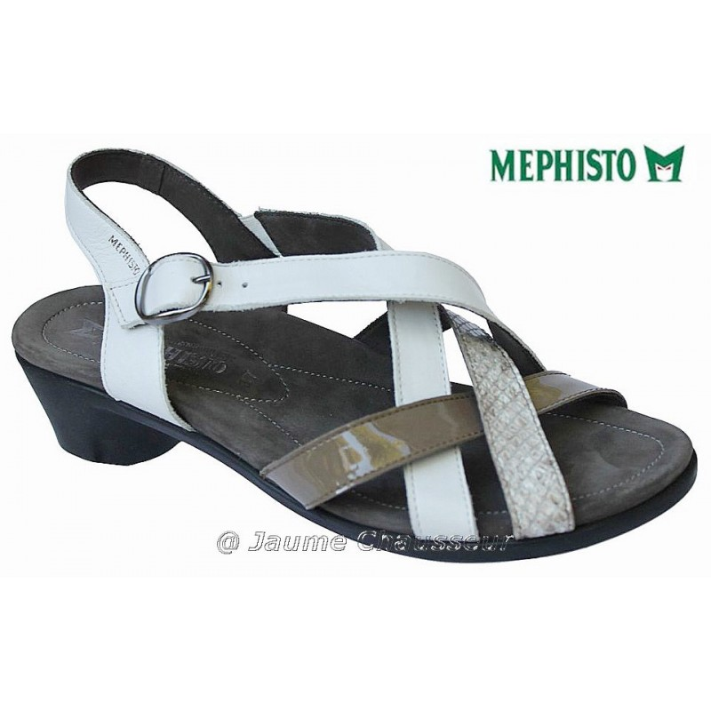 MEPHISTO Femme Sandale PRIMA Blanc cuir 5414