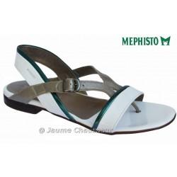 mephisto-chaussures.fr livre à Paris Mephisto ZULIE Blanc verni sandale