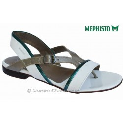mephisto-chaussures.fr livre à Saint-Martin-Boulogne Mephisto ZULIE Blanc verni sandale