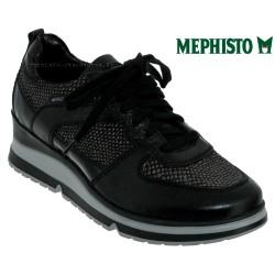 mephisto-chaussures.fr livre à Andernos-les-Bains Mephisto Vicky Noir/python cuir basket_mode_basse