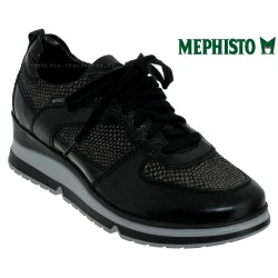 mephisto-chaussures.fr livre à Besançon Mephisto Vicky Noir/python cuir basket_mode_basse