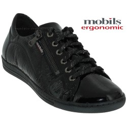 Mephisto Chaussures Mobils by Mephisto HAWAI Noir vernis lacets_derbies