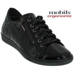 mephisto-chaussures.fr livre à Paris Lyon Marseille Mobils by Mephisto HAWAI Noir vernis lacets_derbies