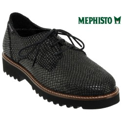 Boutique Mephisto Mephisto SABATINA Noir/gris cuir lacets_derbies