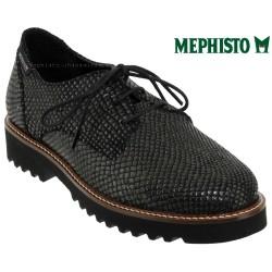 mephisto-chaussures.fr livre à Ploufragan Mephisto SABATINA Noir/gris cuir lacets_derbies