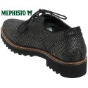Mephisto SABATINA Noir/gris cuir lacets_derbies