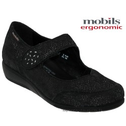 mephisto-chaussures.fr livre à Paris Lyon Marseille Mobils by Mephisto Janis Noir cuir ballerine