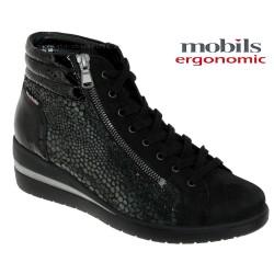 mephisto-chaussures.fr livre à Saint-Martin-Boulogne Mobils by Mephisto Pavina Noir cuir bottine