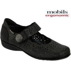 mephisto-chaussures.fr livre à Paris Lyon Marseille Mobils by Mephisto FABIENNE Noir python cuir mary-jane