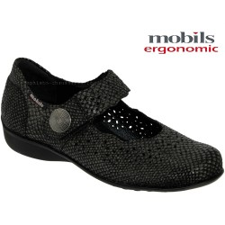 mephisto-chaussures.fr livre à Saint-Martin-Boulogne Mobils by Mephisto FABIENNE Noir python cuir mary-jane
