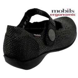 Mobils by Mephisto FABIENNE Noir python cuir mary-jane