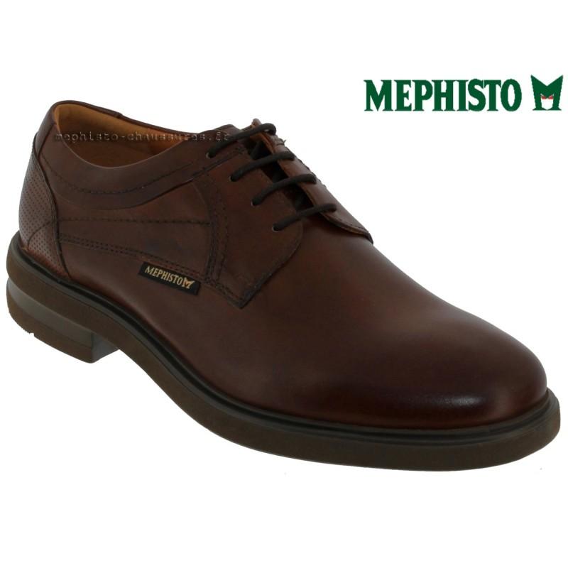 Mephisto Olivio Marron cuir lacets_derbies