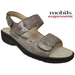 Mobils by Mephisto GETHA Taupe cuir sandale