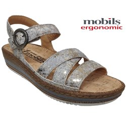Mobils by Mephisto Lucie Gris/Platine nu-pied
