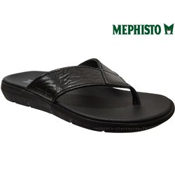 Mephisto Charly Noir cuir tong