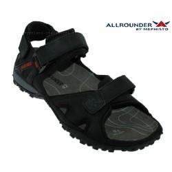 mephisto-chaussures.fr livre à Ploufragan Allrounder ROCK Noir cuir sandale
