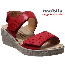 Mobils by Mephisto Penny perf Rouge cuir sandale
