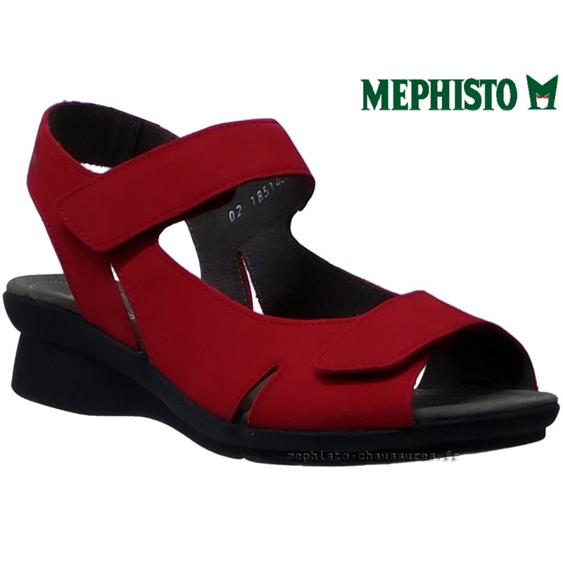 le pecq, Perry, Rouge nubuck chez www.mephisto-chaussures.fr (61823)
