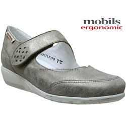 Mobils by Mephisto Janis Taupe cuir ballerine