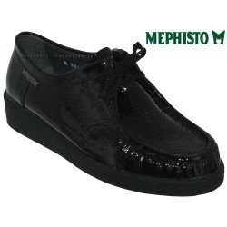 mephisto-chaussures.fr livre à Montpellier Mephisto CHRISTY Noir verni lacets_derbies