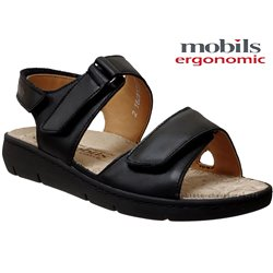 Mobils by Mephisto Constance Noir cuir nu-pied 61858