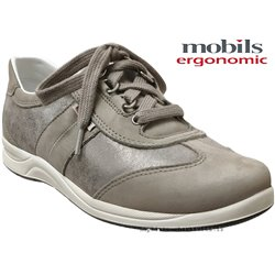 Mobils by Mephisto Liria Taupe cuir lacets_richelieu