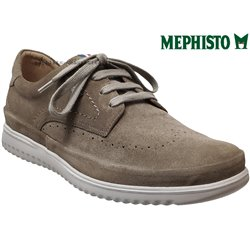 Mephisto Thibault Taupe velours lacets_derbies