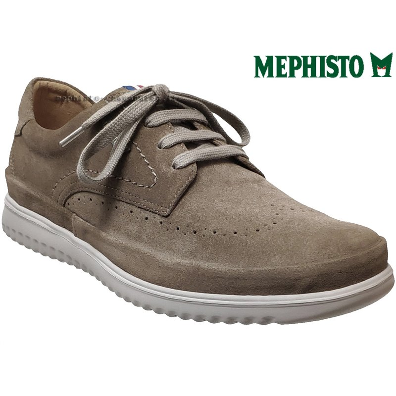 le pecq, Thibault, Taupe velours chez www.mephisto-chaussures.fr (63112)