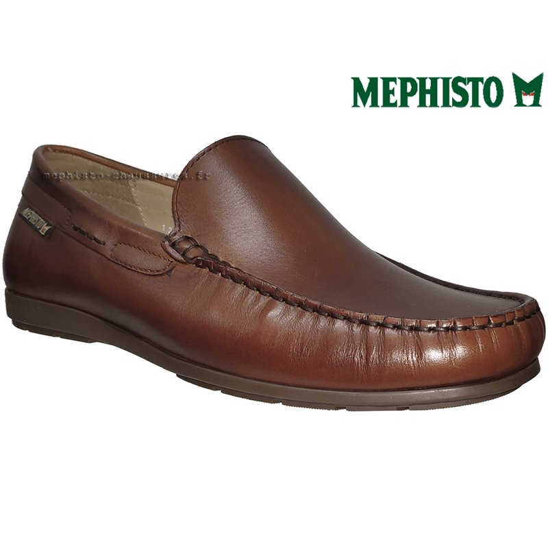Mephisto ALGORAS Marron moyen cuir mocassin