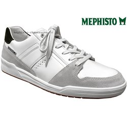 Mephisto Russel Blanc cuir basket_mode_basse