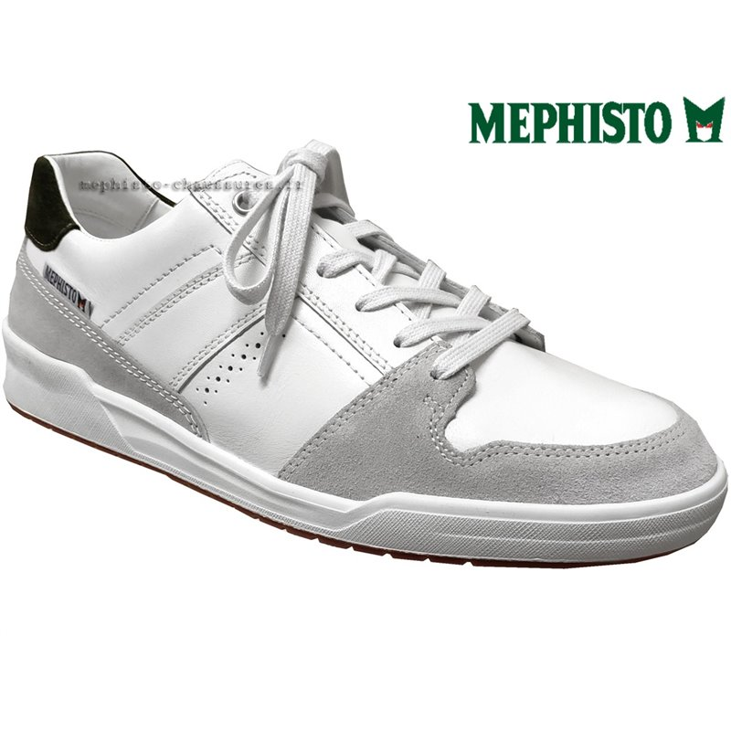 achat mephisto, Russel, Blanc cuir chez www.mephisto-chaussures.fr (63358)