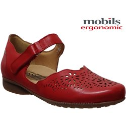 Mobils by Mephisto Florina perf Rouge cuir ballerine
