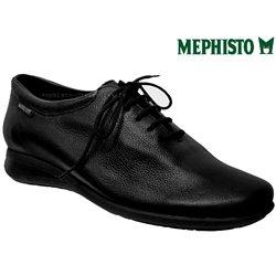 Mephisto Nency Noir cuir lacets_richelieu