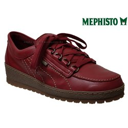 Mephisto Lady Rouge cuir lacets_derbies