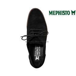 Mephisto SABATINA Noir velours lacets_derbies