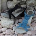 MEPHISTO Femme Sandale CLESIA Bleu nubuck 6481