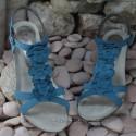 MEPHISTO Femme Sandale CLESIA Bleu nubuck 6482