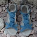 MEPHISTO Femme Sandale CLESIA Bleu nubuck 6484