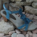 MEPHISTO Femme Sandale CLESIA Bleu nubuck 6485