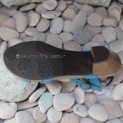 MEPHISTO Femme Sandale CLESIA Bleu nubuck 6486